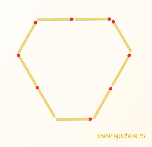 Добавить 9 спичек - 7 треугольников