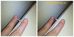 Фокус - Как сломать спичку двумя пальцами - решение 1