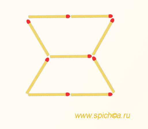 Из 2 трапеций три треугольника