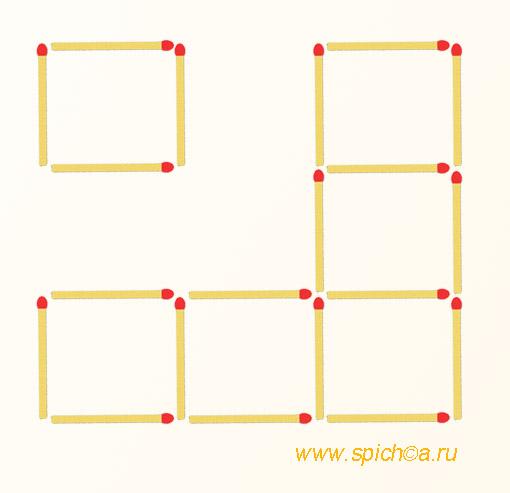Из 6 квадратов пять