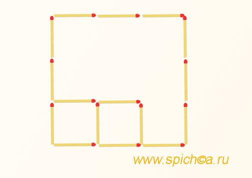 Из трех квадратов два
