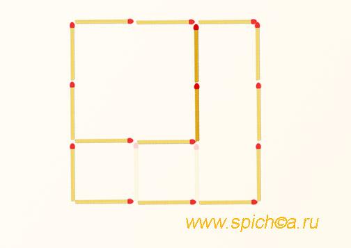 Из трех квадратов два - решение
