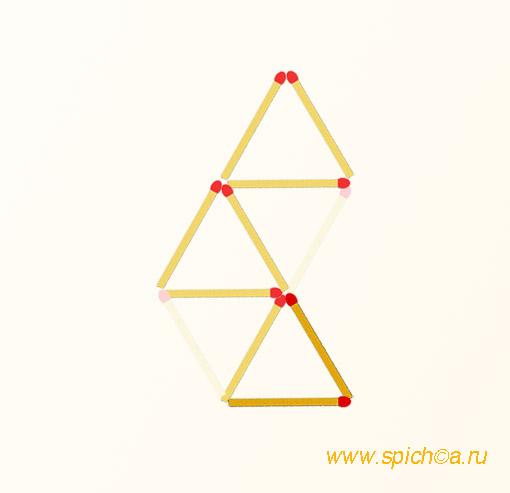 Из 4 треугольников три - решение