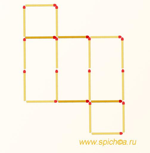 Из 2 прямоугольников четыре квадрата - решение