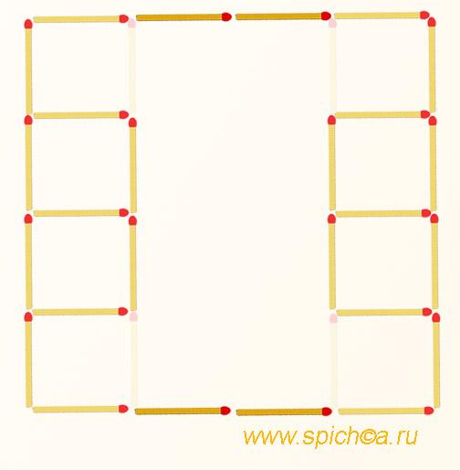 Из двух башен 5 квадратов - решение