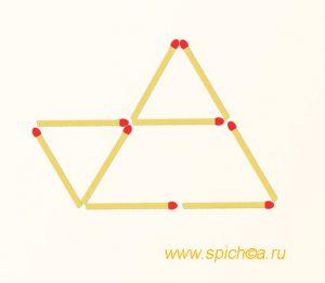 Из трех треугольников три одинаковых