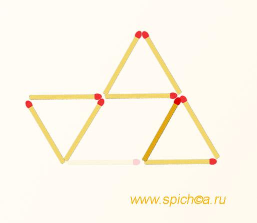 Из трех треугольников три одинаковых - решение