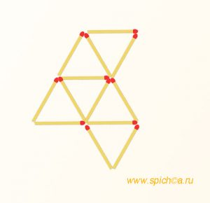 Из 6 треугольников три